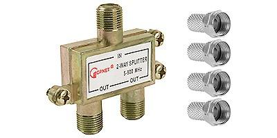 4 conectores + divisor de antenas